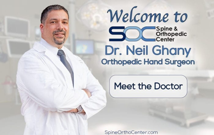 SOC Welcomes Dr. Ghany, Hand Surgeon
